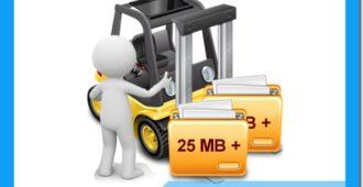 отправить файл большого размера